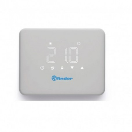 FINDER BLISS WiFi CRONOTERMOSTATO SETTIMANALE A BATTERIE DA PARETE CON PIN APP IOS ANDROID