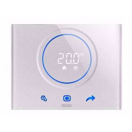 GW16972CB TERMOSTATO THERMO ICE WI-FI BIANCO TOUCH SCREEN VETRO GEWISS