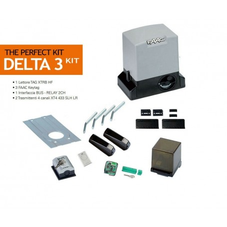 FAAC 105918 DELTA 3 KIT 230V PERFECT PER CANCELLI SCORREVOLI MAX 900KG