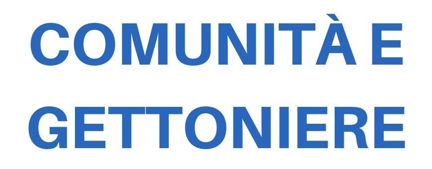 Per Comunità e Gettoniere